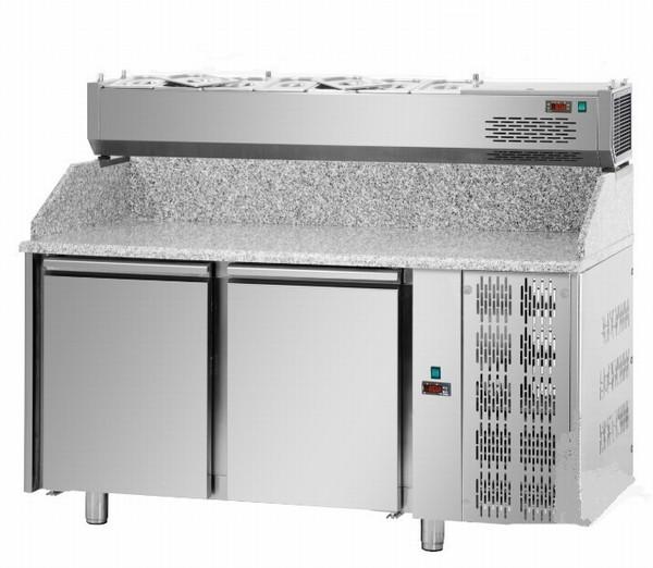 Стол пиццерийный DGD PZ02MID80 + VR4 160 VD