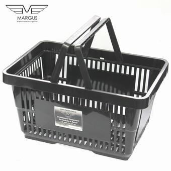 Купівельні корзини для супермаркету PLAST black