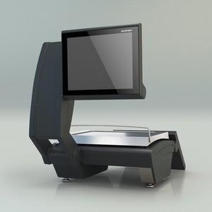 KH II 200 - весы с клавиатурой для управления и дисплеем для покупателей (на штативе), идеально подходящие для активной работы в магазинах с обслуживанием.