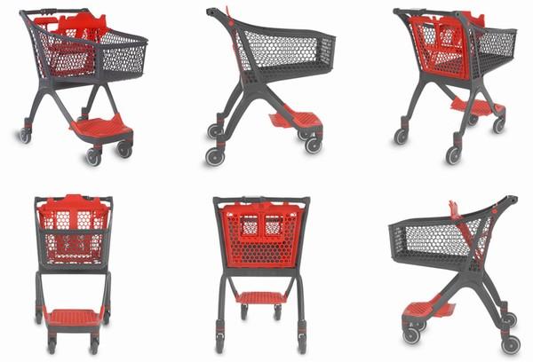 Пластикоий купівельний візок - P100 Urban Shopper