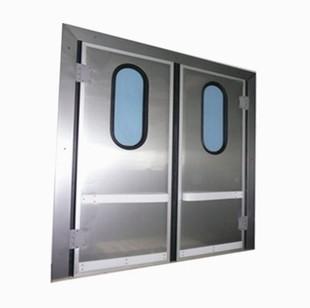 Двери распашные двустворчатые маятниковые