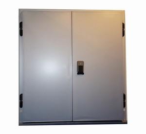 Двери распашные двустворчатые для холодильных и морозильных камер серии