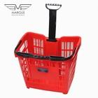 Покупательская корзина для супермаркета с колесами PLAST 43
